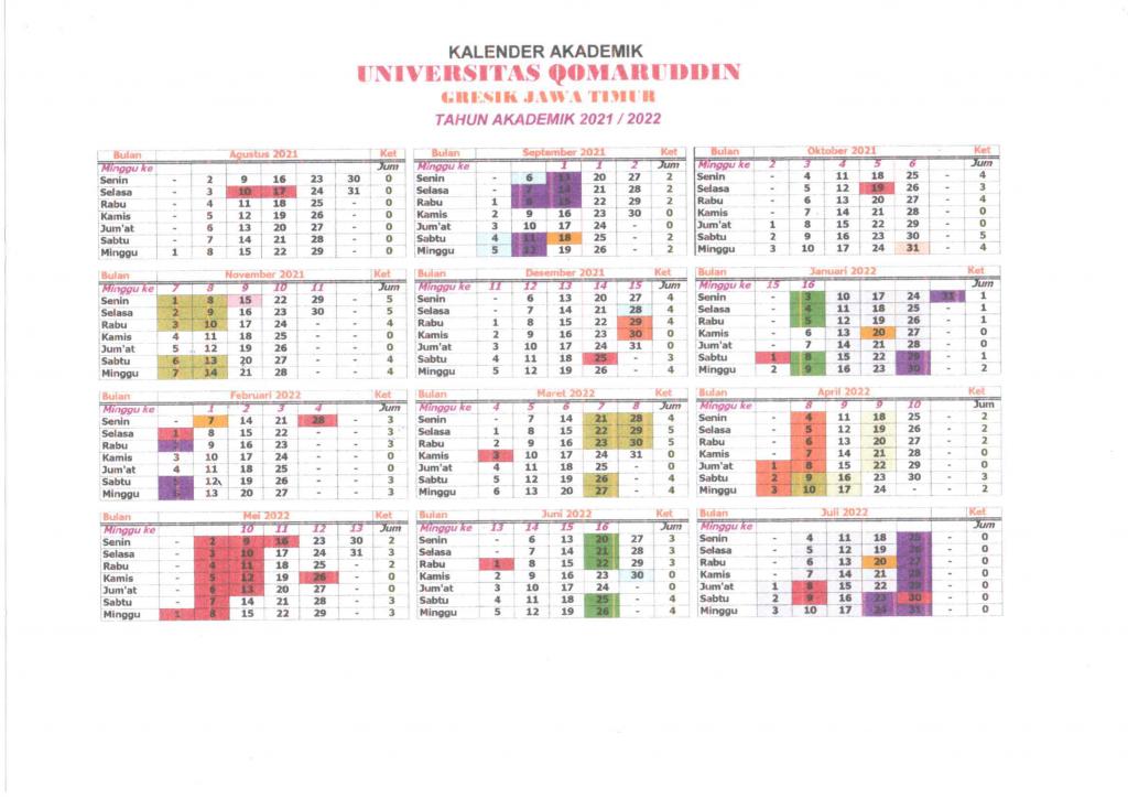 kalender Akademik 2021-2022